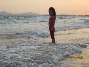 Emma at Sunset