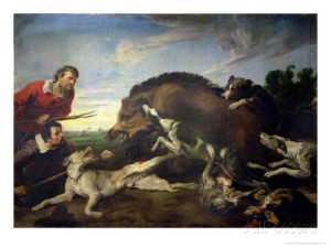 frans-snyders-or-snijders-the-wild-boar-hunt-c-1640