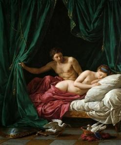 Louis Jean François Lagrenée - Mars and Venus, Allegory of Peace, 1770