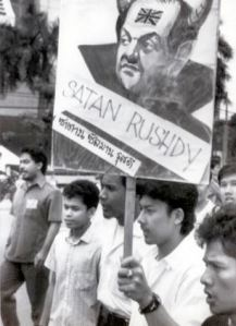 Salman Rushdie, author of the Satanic Verses.