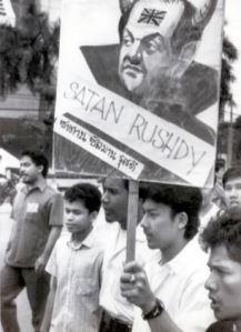 Salman Rushdie, author of the Satanic Verses.