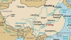 Fuling, China, map
